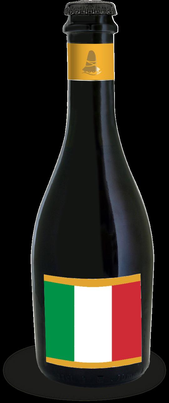 italian flag on a bottle